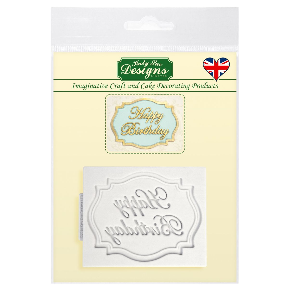 Forma Tabuľka Happy Birthday, CP0005 Katy Sue Mould Mini Plaque - Happy Birthday