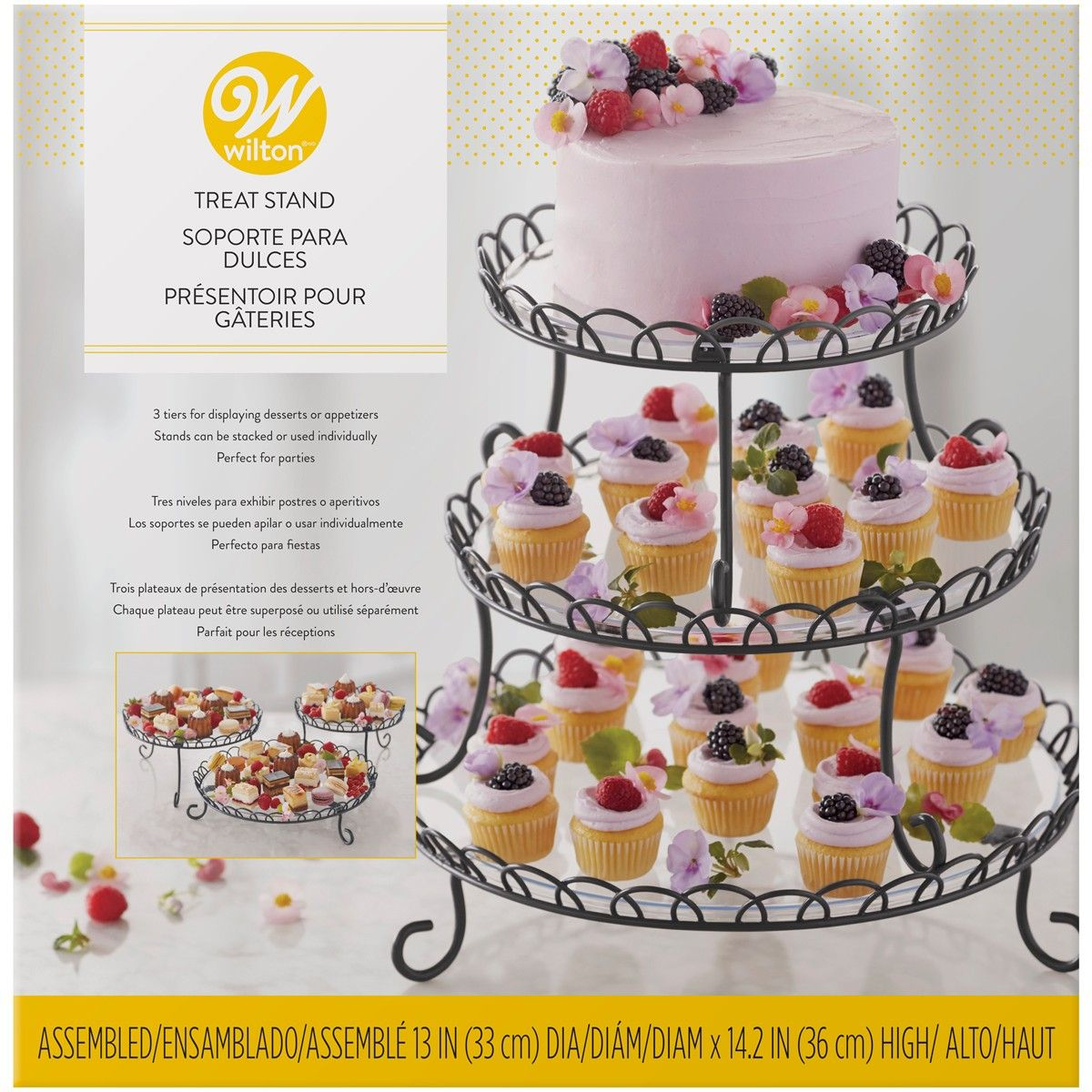 Stojan trojitý kovový/ Wilton 3 Tier Iron Treat Stand, 307-0837