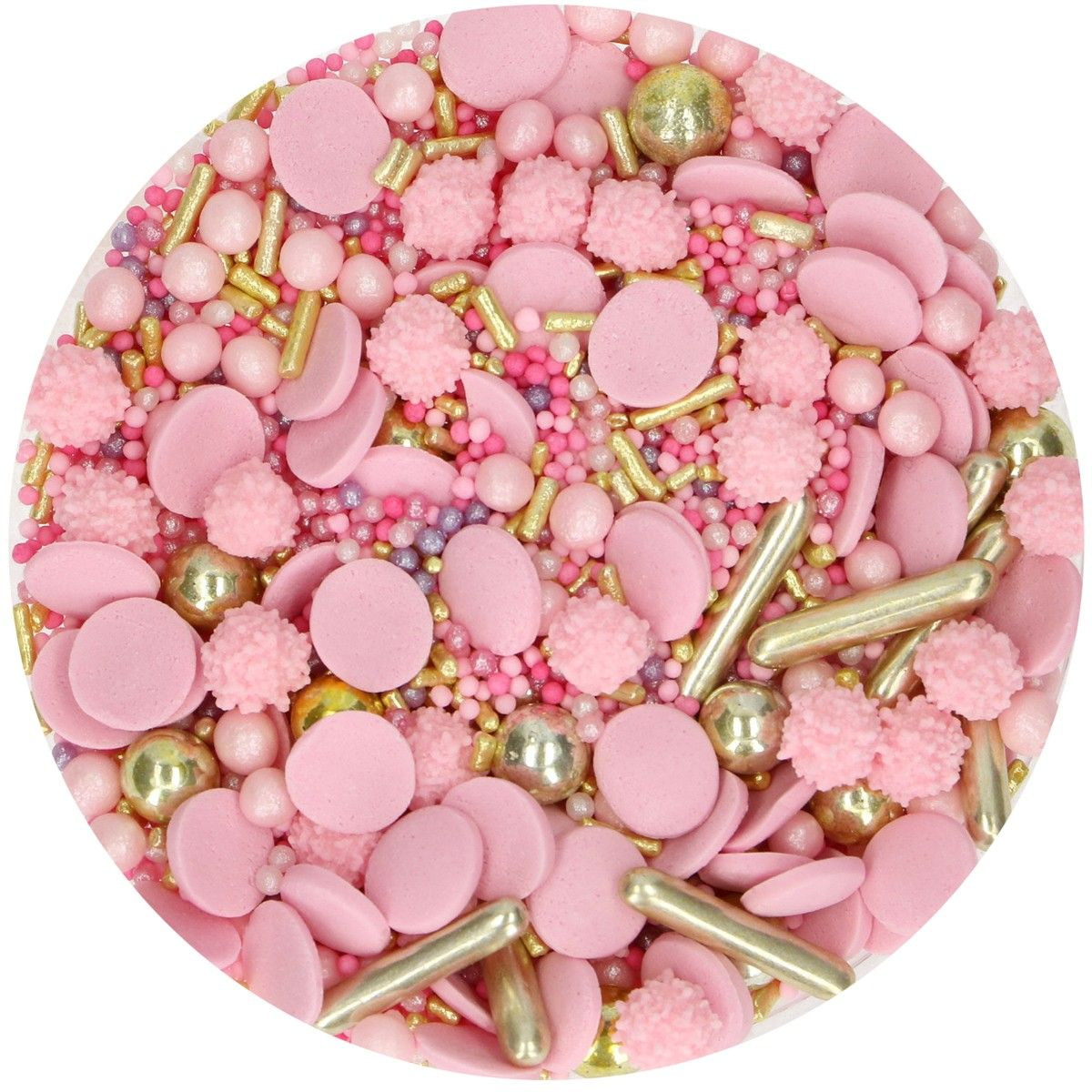 Posyp Fun Cakes - Sprinkle Medley - Glamour Pink 65g, G41746