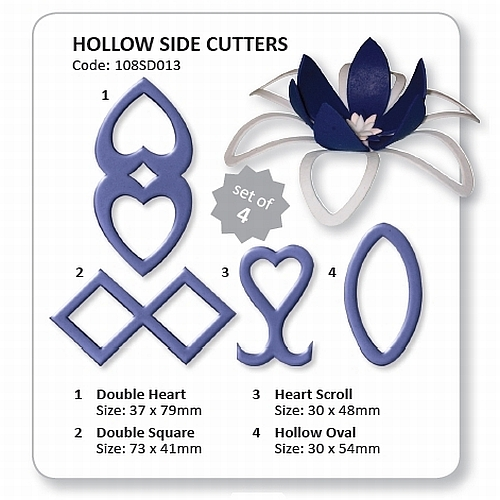 JEM - Hollow Cake Side Cutters Set 4